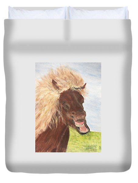 Funny Iceland Horse Duvet Cover