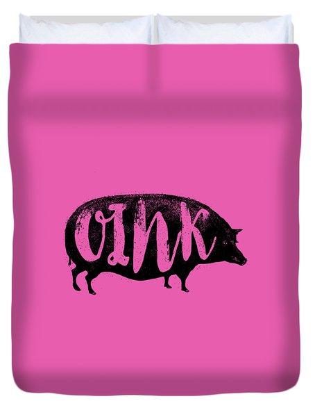 Funny Oink Pig Duvet Cover