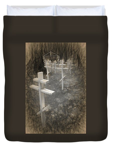 Funter Bay Markers Duvet Cover