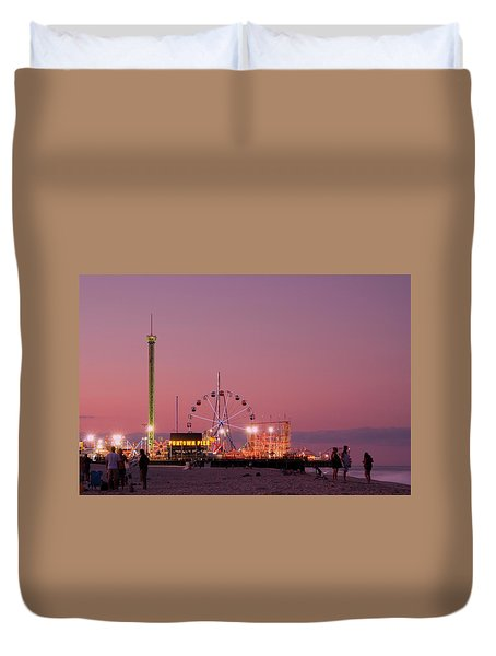 Funtown Pier At Sunset IIi - Jersey Shore Duvet Cover