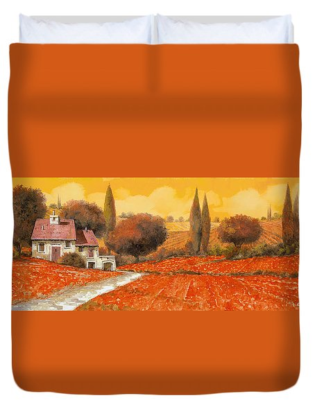 fuoco di Toscana Duvet Cover