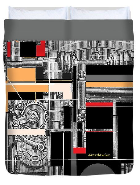 Furnace 1 Duvet Cover by Andrew Drozdowicz