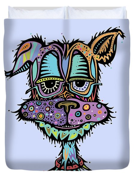 Duvet Cover featuring the drawing Furr-gus by Tanielle Childers