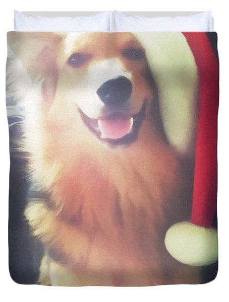 Furry Christmas Elf Duvet Cover