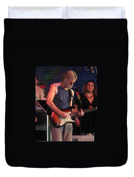 Duvet Cover featuring the photograph Furthur - Bob Weir -grateful Dead Celebrities by Susan Carella