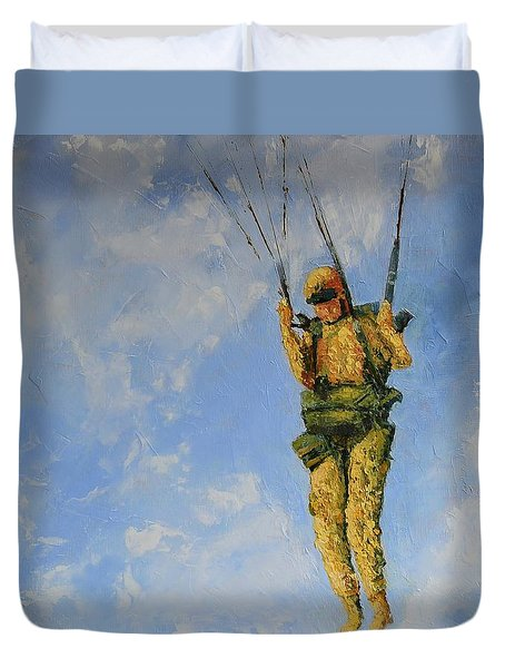Fury From The Sky  Duvet Cover