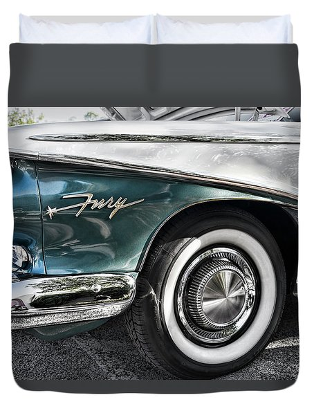 Fury In Blue Duvet Cover