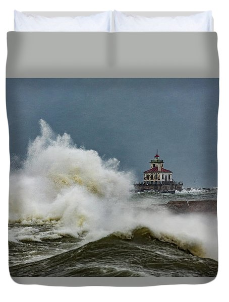 Duvet Cover featuring the photograph Fury On The Lake by Everet Regal