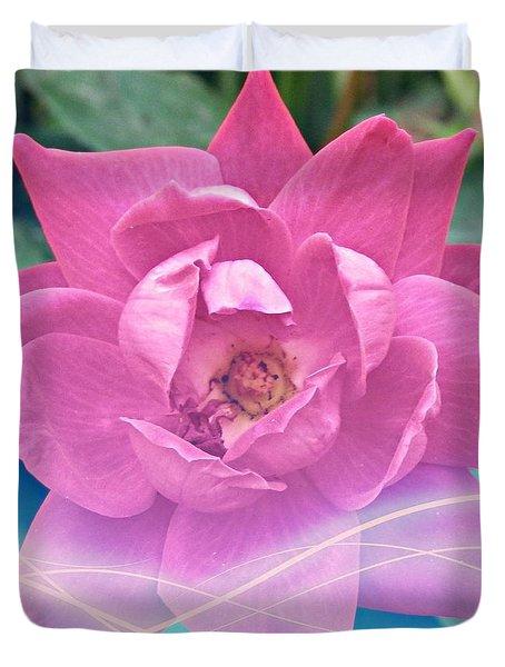 Fuschia Flower Energy Duvet Cover