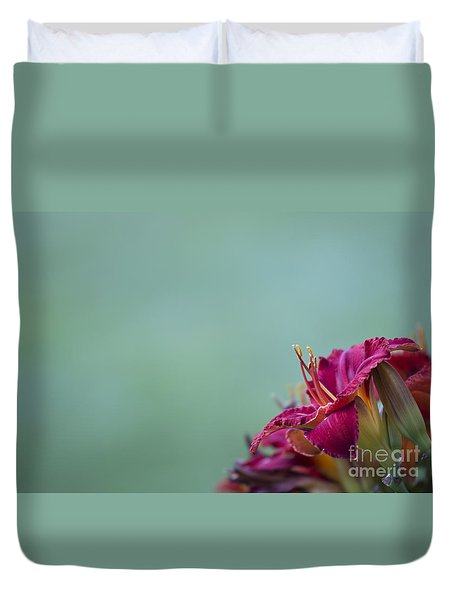 Duvet Cover featuring the photograph Fuchsia In Bloom by Andrea Silies