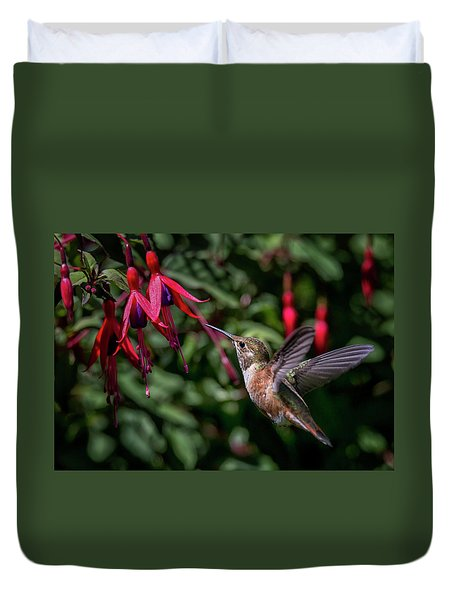 Fuschia Duvet Cover by Randy Hall