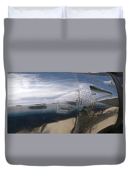 Fuselage Reflection Duvet Cover by Michele Myers