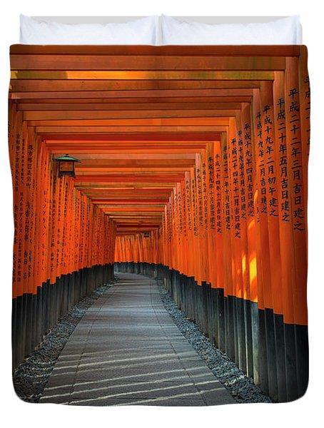 Fushimi Inari Taisha Shrine In Kyoto, Japan Duvet Cover