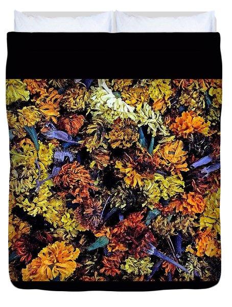 Future Marigolds Duvet Cover