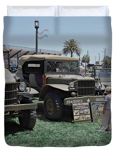 Future Soldier Duvet Cover by DigiArt Diaries by Vicky B Fuller