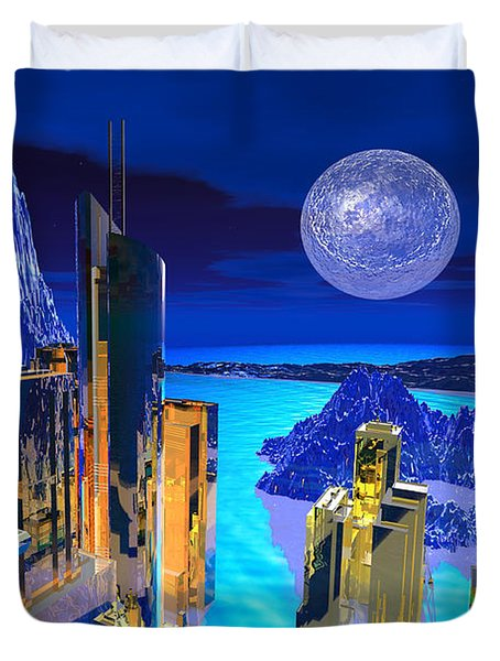Futuristic City Duvet Cover