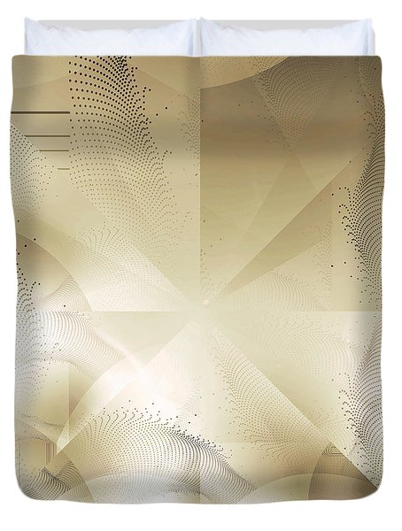 Duvet Cover featuring the photograph Futuristic Gold Abstract by Robert G Kernodle