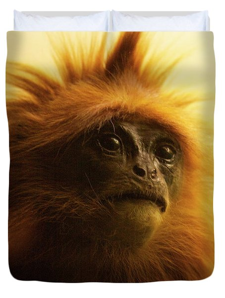 Duvet Cover featuring the photograph Fuzzhead by Xn Tyler