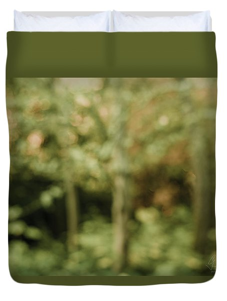 Duvet Cover featuring the photograph Fuzzy Vision by Gene Garnace