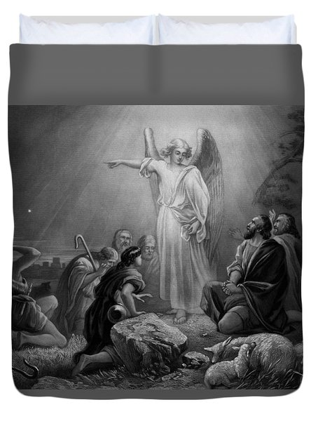 Gabriel Announcing The Birth Of Jesus Duvet Cover