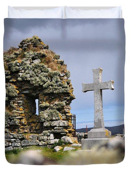 Gaelic Headstone Duvet Cover