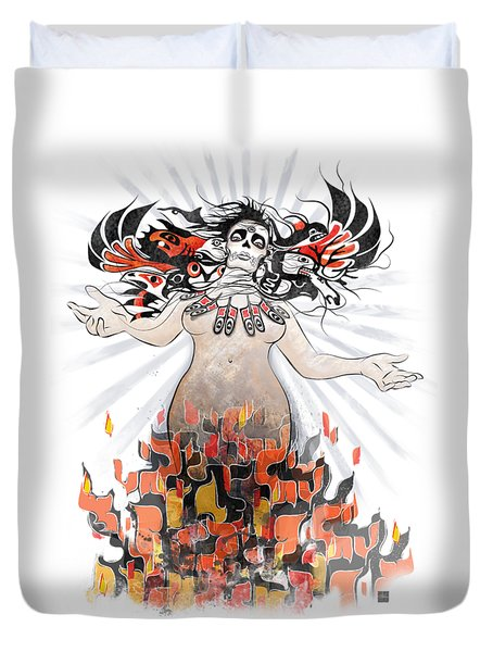 Gaia In Turmoil Duvet Cover