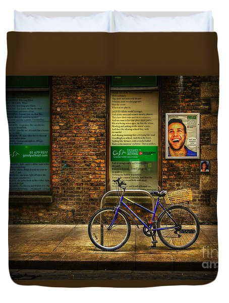 Duvet Cover featuring the photograph Gaiety Bicycle by Craig J Satterlee