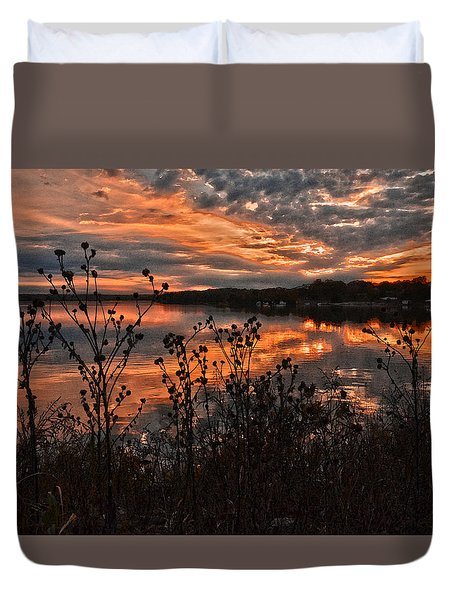 Duvet Cover featuring the photograph Gainesville Sunset 2386w by Ricardo J Ruiz de Porras