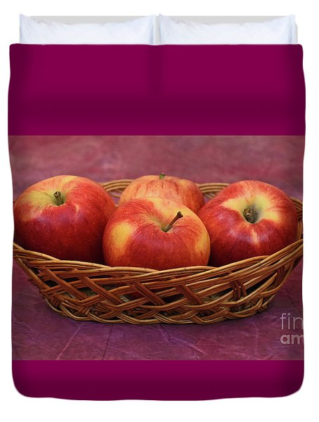 Gala Apple Basket Duvet Cover by Ray Shrewsberry
