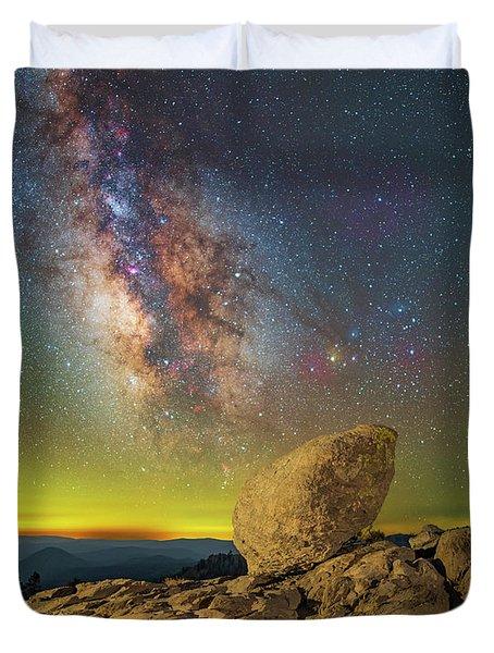 Galactic Erratic Duvet Cover