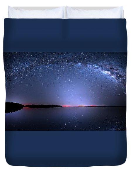 Galactic Lake Duvet Cover