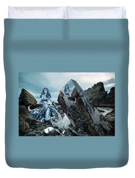Galactic Mermaid Duvet Cover