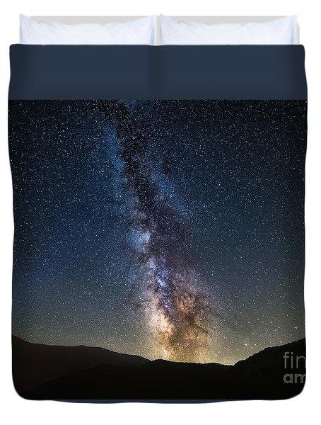 Galactic Rise Duvet Cover