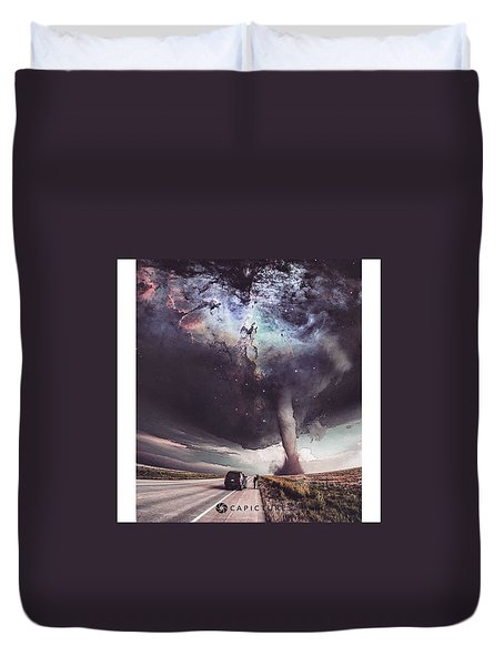 Galactic Storm Duvet Cover by Cesar Abad Pictures