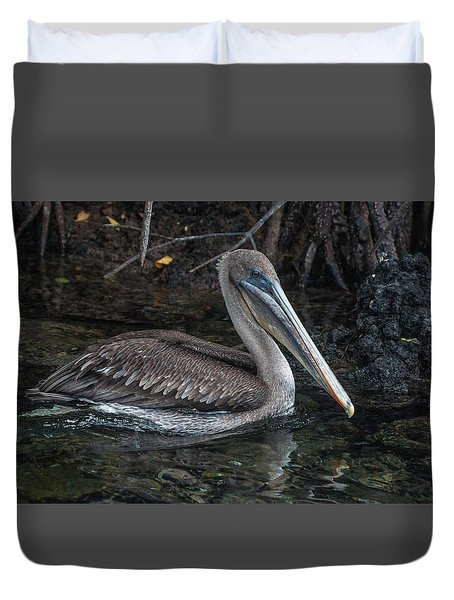 Galapagos Pelican Duvet Cover