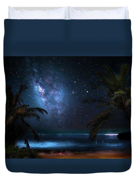 Galaxy Beach Duvet Cover