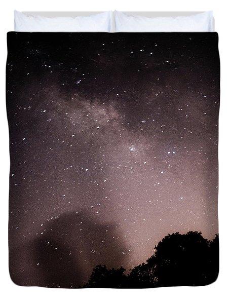 Galaxy Beams Me Duvet Cover by Carolina Liechtenstein