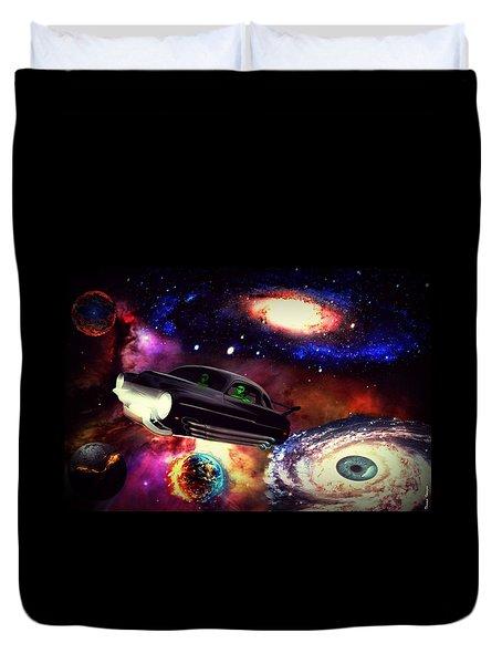 Galaxy Drive Duvet Cover