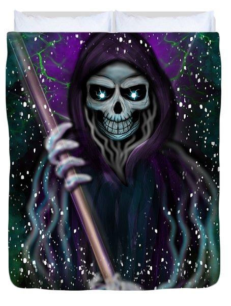 Galaxy Grim Reaper Fantasy Art Duvet Cover