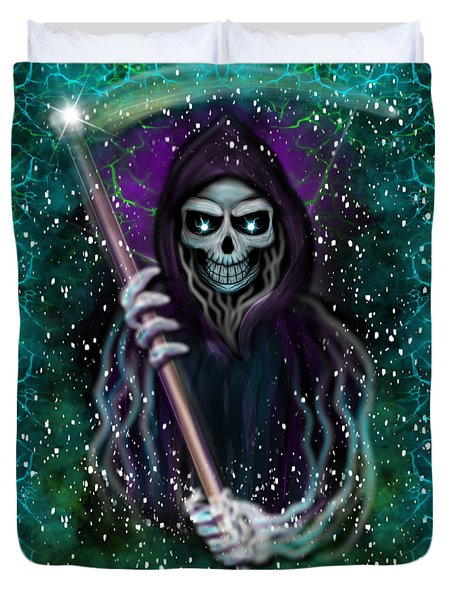 Galaxy Grim Reaper Fantasy Art Duvet Cover