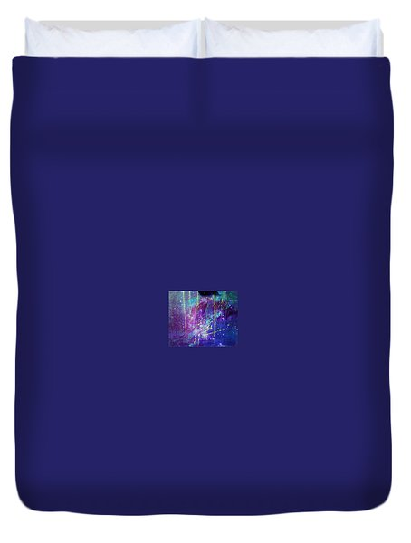 Galaxy In Motion Duvet Cover
