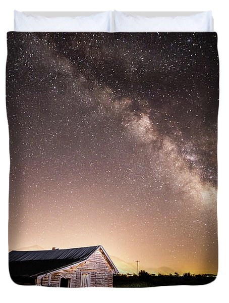 Galaxy In Star Valley Duvet Cover