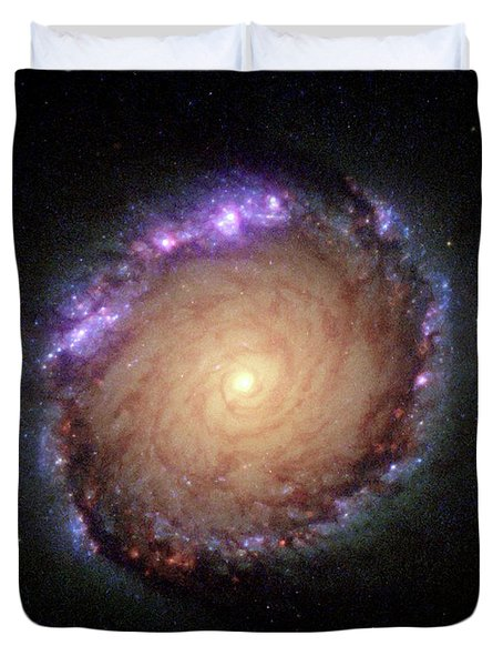 Galaxy Ngc 1512 Duvet Cover by Hubble Space Telescope