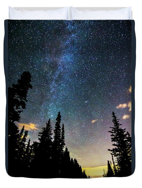 Duvet Cover featuring the photograph  Galaxy Rising by James BO Insogna