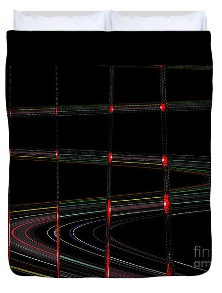 Galaxy Stoplights Duvet Cover
