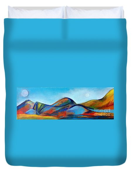 Galaxyscape Duvet Cover by Elizabeth Fontaine-Barr