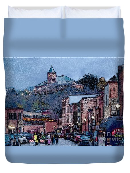 Galena Illinois Duvet Cover by David Blank