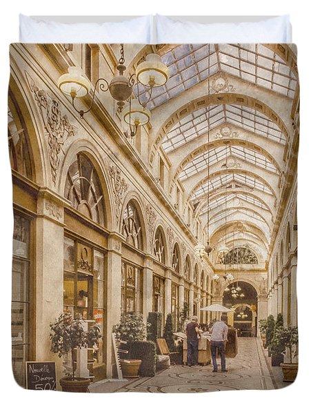 Paris, France - Galerie Vivienne Duvet Cover