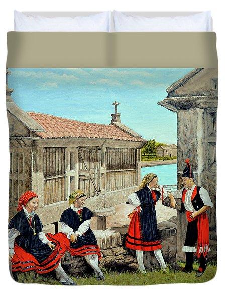 Galicia La Bella Duvet Cover by Tony Banos