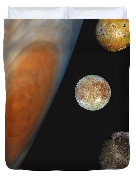 Galilean Moons Of Jupiter Duvet Cover